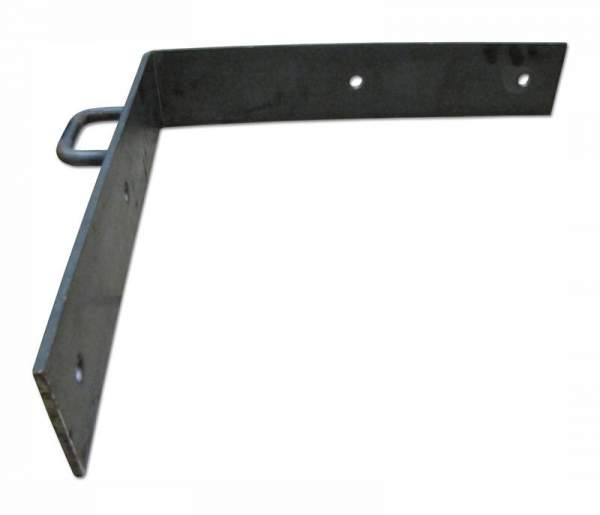 The steel corner brackets come pre-drilled for easy installation. Mounting bolts are not included.