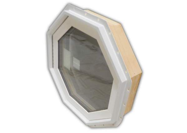 Octagon Insulated Window with wood frame