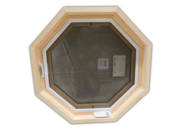 Insulated Octagon Window with Screen