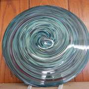 """Handblown local artisan Stained glass Roundel with an 18"""" diameter, 1/4"""" thick. One of a kind pieces or art for your cottage decor."""