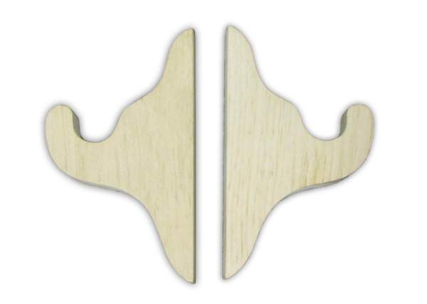 Decorative wooden curtain rod brackets