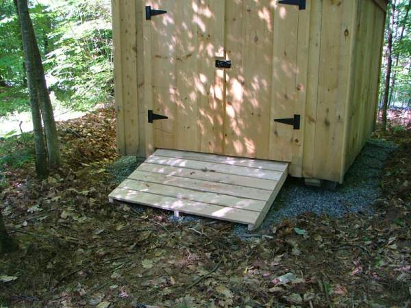 3x5 Treated Ramp for 5' double doors.