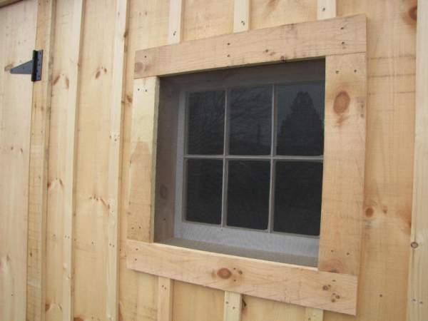 Screen material may be purchased for installing under window trim, or build removable screen windows with a wooden frame.