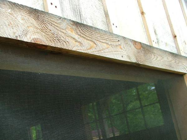 Screen material can be installed in rough openings of sheds, screen rooms, and cottages to keep bugs out.