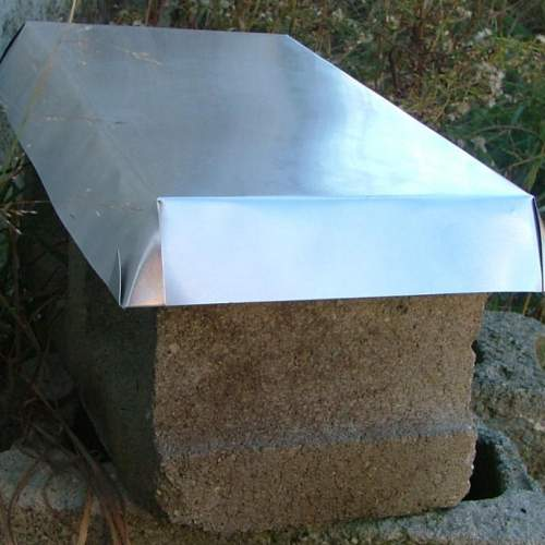 """Aluminum Termite Sheild to prevent termite damage to your wooden shed, cabin, cottage or barn. 18.5""""x10""""x2""""."""