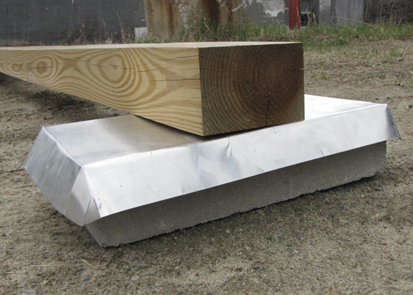"Aluminum Termite Sheild to prevent termite damage to your wooden shed, cabin, cottage or barn. 18.5""x10""x2""."