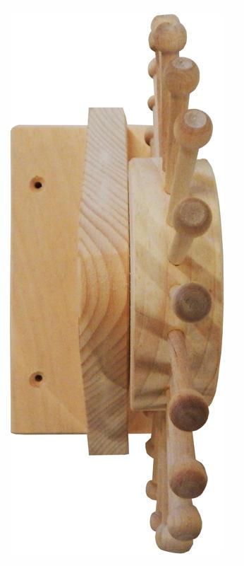 Unfinished Pine Revolving Tie Rack