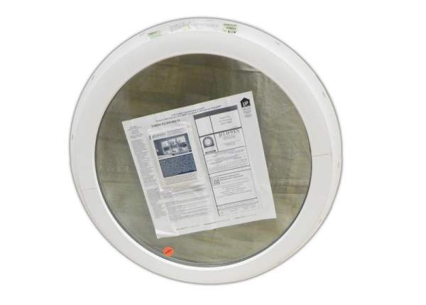 24-inch insulated octagon window with nail fin for installation in cabins, cottages, tiny homes and garages.