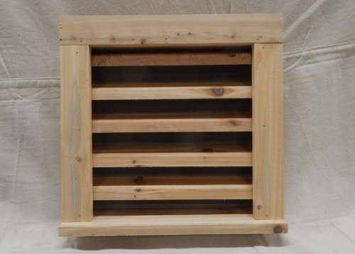 "Wood Louvered Vent for your Shed, cottage or Barn.  Handmade from localy sourced sustainable Pine. Roughly 15""x16""x3.5""."