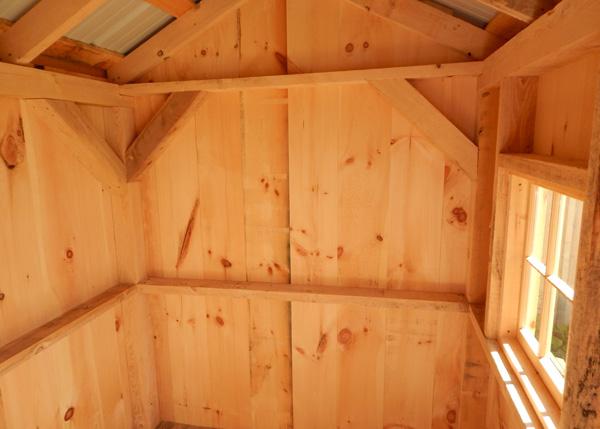 Tiny shed with a hinged barn sash window