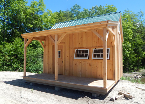 16x16 DIY Hobby House with Treated Pine Porch and Insulated Windows