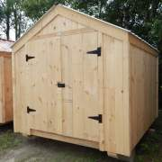 8x10 Economy Vermonter with Shiplapped Pine Board Siding and Galvalume Corrugated Metal Roofing