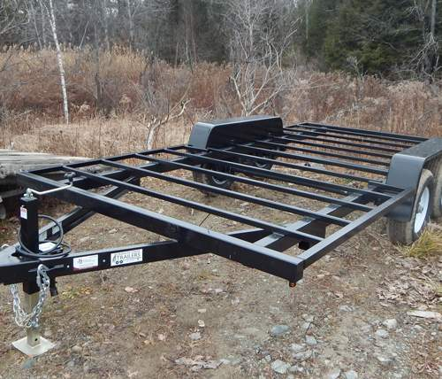 8x20 Tiny House Trailer with truck hitch for transporting Fully-Assembled Cabins and Cottages