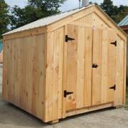 64 square foot prefab wooden storage shed for sale