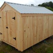 112 square foot wooden storage shed that is affordable