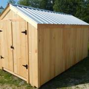 8x14 Economy Vermonter Storage Shed with Galvalume Corrugated Metal Roofing