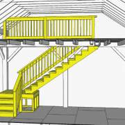 Two Bay Garage Stair System Kit for Vermont Cabin
