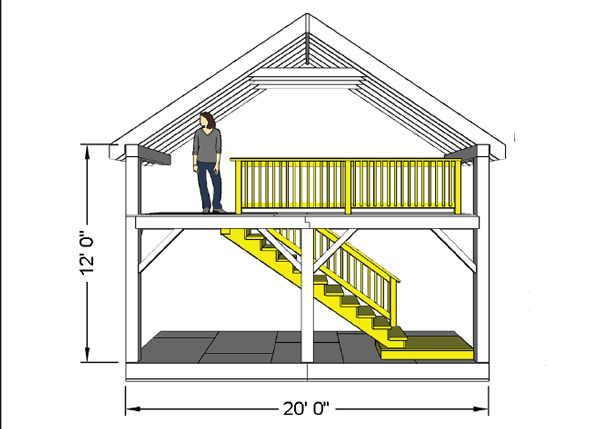 Interior Stair System for Vermont Cabin DIY kit