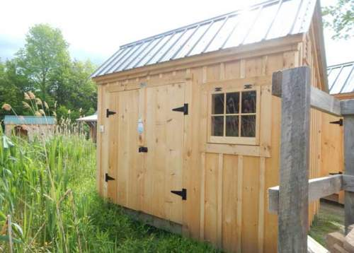8x10 Saltbox - Assembled Storage Shed