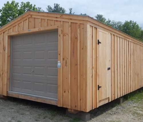 14x30 Barn Garage with charcoal gray roof