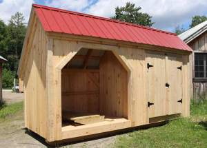 6x16 Weekender - combination firewood storage shed