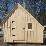 This tiny shed can also be used as a playhouse