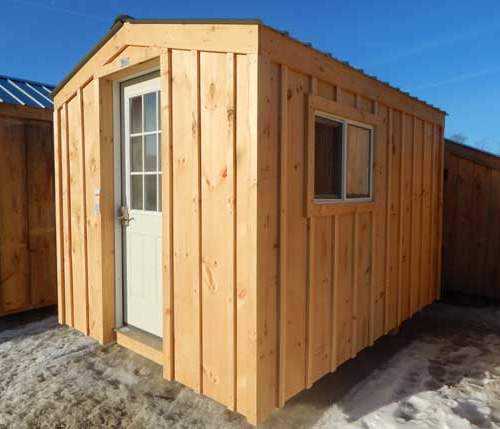 The Bunkie is a one room cottage that can fit a bed and a dresser.