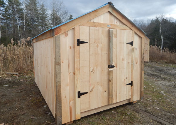 8x12 Economy Vermonter Shed with Blue Roof