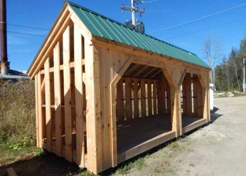 Example of 8x20 Woodbin with alternating siding