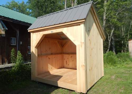 8x8 Woodbin with Charcoal Gray Roof