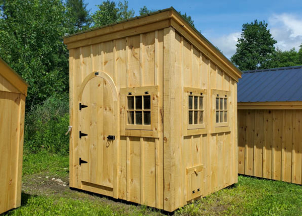 We love how this tiny shed was converted into a chicken coop.