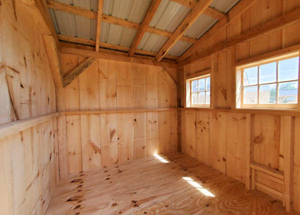 Post and beam shed design made into a chicken coop.