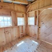 This storage shed is small yet spacious and will be used as a chicken coop.