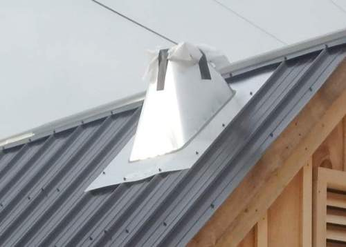 6-Inch Wood Stove Roof Flashing