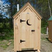 4X4 Working Outhouse Fully Assembled
