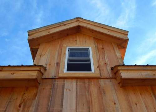 Dog House Dormer on the Vermont Cabin