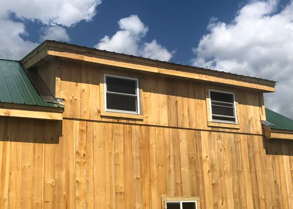 Shed Dormer for post and beam timber frame kits