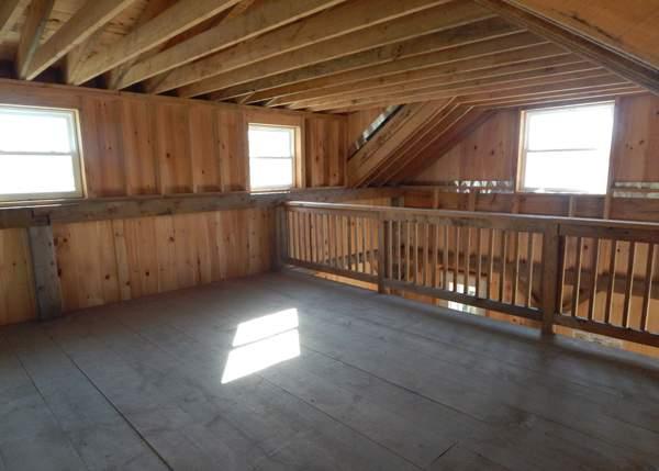 20 foot wide shed dormer inteiror