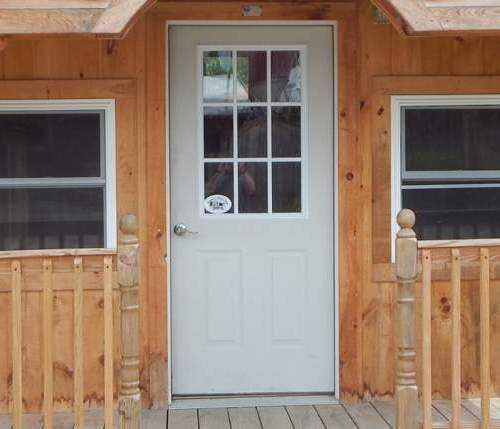Nine-Lite Insulated Steel Door