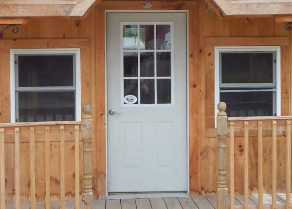 Nine-Lite Insulated Steel Door