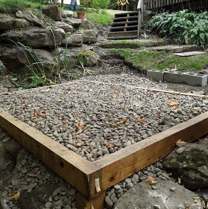 Gravel Pad Site Preparation