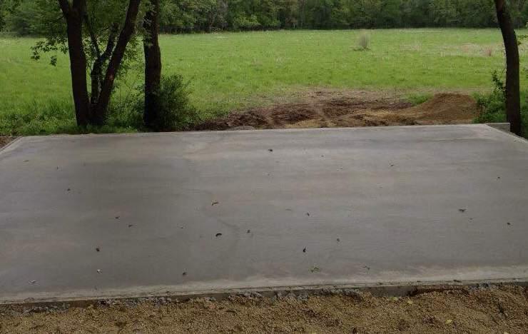 Poured Concrete Slab Foundation