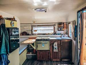 compact tiny house kitchen interior
