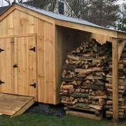 10x14 Economy New Yorker B Wood Storage Shed with Overhang Add-On
