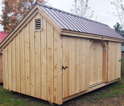 10x16 Three Sled Shed - storage for snowmobiles, ATV's and motorcycles