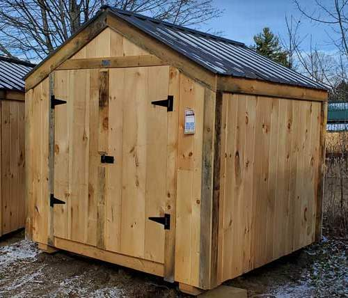 8x8 Vermonter Shed with Matte Black metal roof
