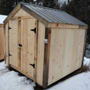 This affordable storage shed is ready to ship