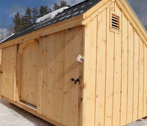 10x16 Three Sled Shed