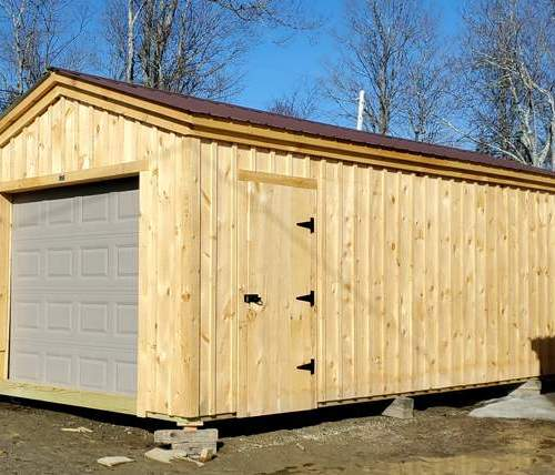12x24 Barn Garage - One Car Vehicle Storage