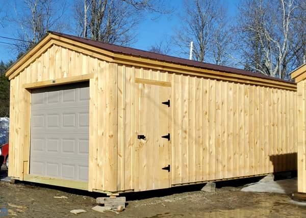 12x24 Barn Garage - One Car Vehicle Storage